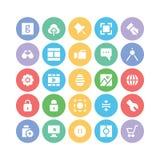 Design- & utvecklingsvektorsymboler 4 Fotografering för Bildbyråer