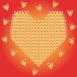Design of valentine day symbol red heart. Abstract decorative seamless romantic pattern. Royalty Free Stock Photo
