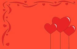 Valentine's Day card Stock Images