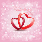 Design for Valentine's Day with Red Heart cross on Abtract backg Royalty Free Stock Photo