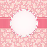 Design for Valentines day card. Template frame design for Valentines day card Royalty Free Stock Image