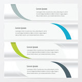 Design vector banner  Green, blue, gray color Royalty Free Stock Photo