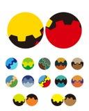 Design vector circular logo element. Stock Images