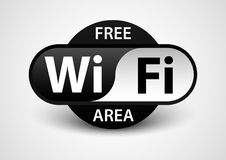 Free wifi area banner. Design vector of editorial banner advertise Stock Photos