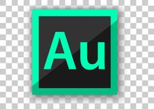 Adobe audition icon design white square background. Design vector of icon application white tile background Eps10 file support Royalty Free Stock Image