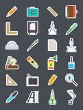 Design  vector icons set. Set of 24 Design  vector icons Royalty Free Stock Images