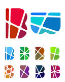 Design vector letter logo element stock illustration