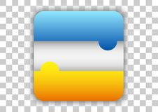 File manager icon button custom design. Design vector mobile application icon custom button design with shiny glossy effect Stock Images
