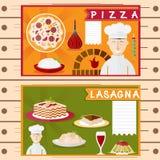 Design vector posters of italian cuisine elements Stock Photos