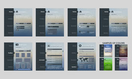 Design vector template interface royalty free illustration