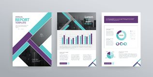 Design vector template layout for company profile ,annual report with cover, brochures, flyers, presentations,. Leaflet, magazine,book and a4 size Royalty Free Stock Photo