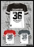 Design vector template  t shirt collection for men 007. Design vector template t shirt collection for men with color black red grey and white Stock Image