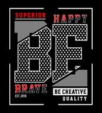Design vector typography be happy Royalty Free Stock Photo