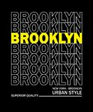 Design vector typography brooklyn for t shirt vector illustration