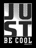 Design vector typography just be cool Stock Photos