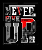 Design vector typography never give up Stock Photos