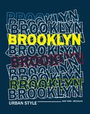 Design vector typography brooklyn 02 for t shirt stock illustration