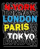Design vector typography new york for t shirt stock illustration