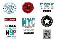 Design vector typography varsity collection 004. Design vector typography varsity collection for print t shirt men stock illustration
