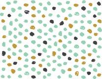 Design-Vektor-Hand gezeichneter dekorativer nahtloser Muster-Karikatur-Hintergrund Stockbild