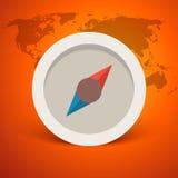 Design-Vektorillustration des Kompassses Retro- Stockfoto