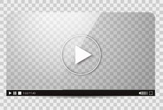 Design of the video player. Interface movie media play bar. Vector flat illustration Stock Image
