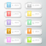 Design vintage banner 10 options. Royalty Free Stock Photography