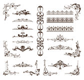 Design vintage ornaments borders, frames, corners. Decorative vintage ornament with flower curls. Paged borders, dividers, frames, corners. Vector Graphics on a Stock Images