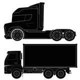Design von Autoschattenbildern, LKW, Automobil, vehi Stock Abbildung