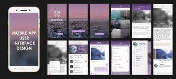 Design von beweglichen Anwendungen Lizenzfreie Stockfotos