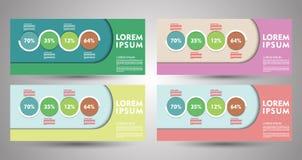 Design von Fliegern, von Fahnen, von Broschüren und von Karten Fahne Co Lizenzfreie Stockfotos