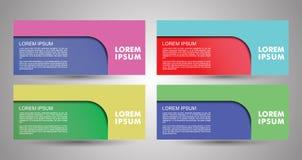 Design von Fliegern, von Fahnen, von Broschüren und von Karten Fahnenvektor Co Stockfotos