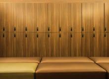 Design von modernen hölzernen Schließfächern Lizenzfreie Stockfotos