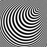 Design vortex movement illusion background Stock Image