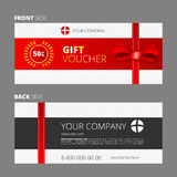 Design of Voucher and Gift certificate. Coupon template design, discount Royalty Free Stock Photos