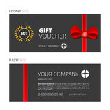 Design of Voucher and Gift certificate. Coupon template design, discount Royalty Free Stock Photo