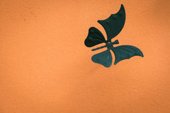 Design for wall, white butterflies, abstract, creative.  Stock Photography