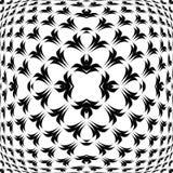 Design warped convex monochrome pattern Stock Photo