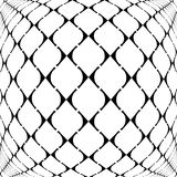 Design warped grid geometric pattern Royalty Free Stock Images