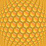 Design warped honeycomb pattern Stock Image