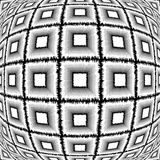 Design warped monochrome checked pattern Stock Images