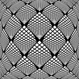 Design warped monochrome checked pattern Royalty Free Stock Images