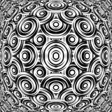 Design warped monochrome circle pattern Stock Photos