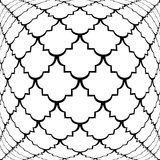Design warped monochrome convex pattern Royalty Free Stock Photo