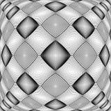 Design warped monochrome geometric pattern Royalty Free Stock Photos