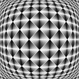 Design warped square trellised pattern Royalty Free Stock Images