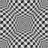 Design warped square volumetric pattern Stock Photos
