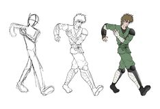Warrior walking sketch Royalty Free Stock Images