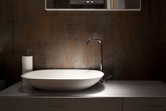 Wash basin. Design wash basin in a bathroom, an interior fragment stock images