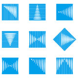 Design wave round vector logo template Royalty Free Stock Photo